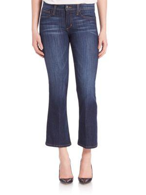 Joe's Jeans The Olivia Flared Cropped Jeans In Shawna