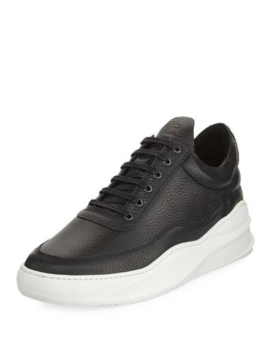 Filling Pieces Men's Sky Low-top Leather Sneakers In Black