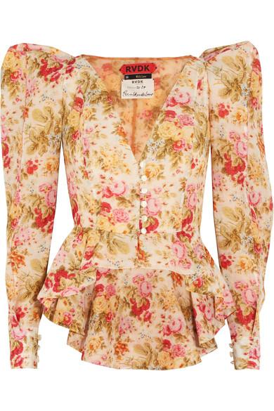 Ronald Van Der Kemp Floral-print Cotton And Silk-blend Voile Jacket In Pink