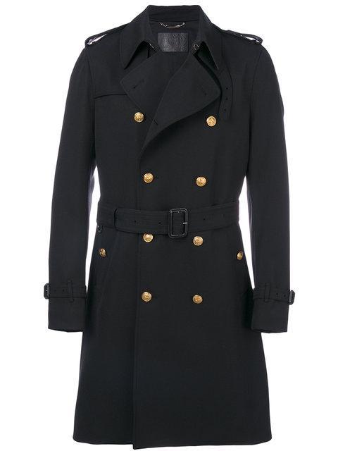 Dolce & Gabbana Dolce E Gabbana Men's  Black Polyester Coat