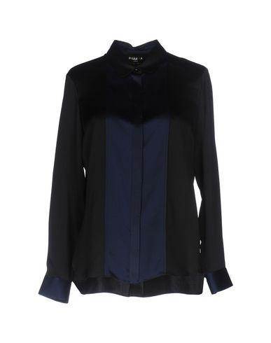 Paule Ka Patterned Shirts & Blouses In Black