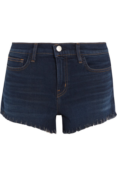L Agence Zoe 毛边牛仔短裤