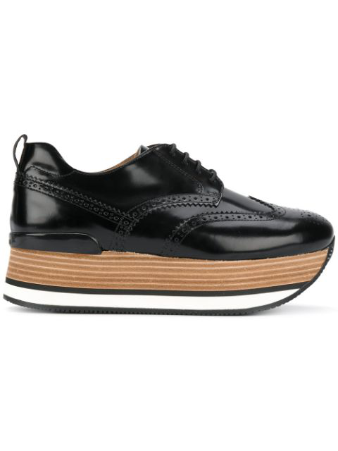 Hogan H222 Platform Sneakers In Black