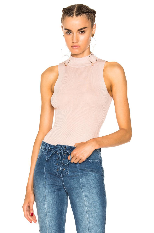 Ulla Johnson Frida Bodysuit In Pink,neutrals