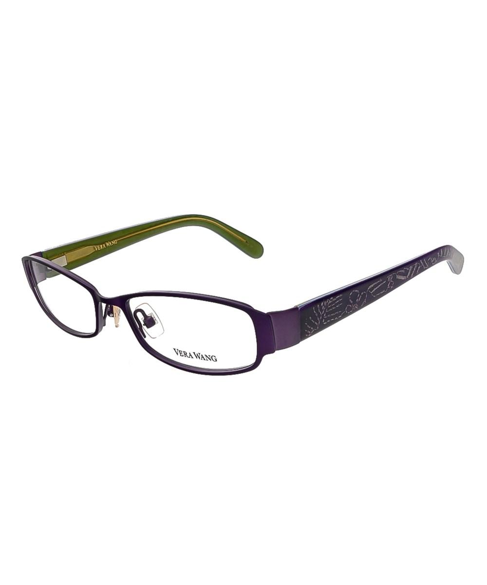 Vera Wang V 043 Am 50 Amethyst Full Rim Womens Optical Frame In Purple