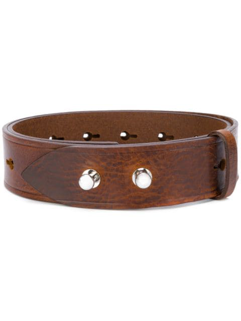 Isabel Marant Marcia Perforated Leather Belt In Brown