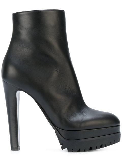 Sergio Rossi Heeled Platform Ankle Boots In Black