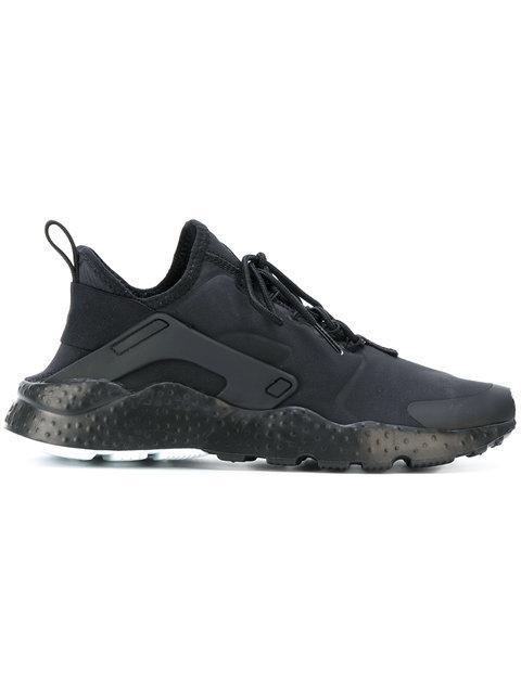 Nike Huarache Run Black Neoprene Fabric Sneakers