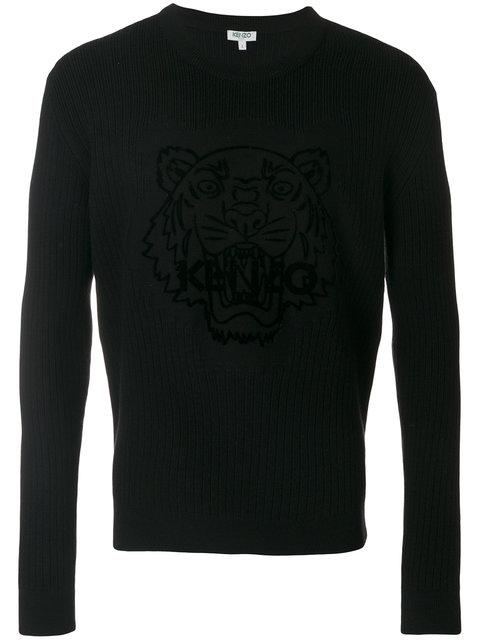 Kenzo Tiger Flock Jumper In Black