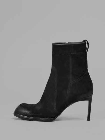 Haider Ackermann Suede Ankle Boots In Black