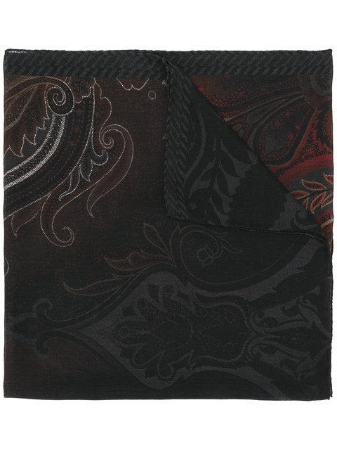 Etro Ombre Print Scarf - Black