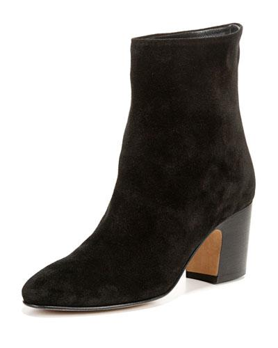 Vince Women's Dryden Suede High Block Heel Booties In Black