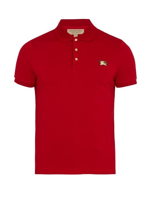 7c5ede0d Burberry Talsworth Cotton-PiquÉ Polo Shirt In Red | ModeSens