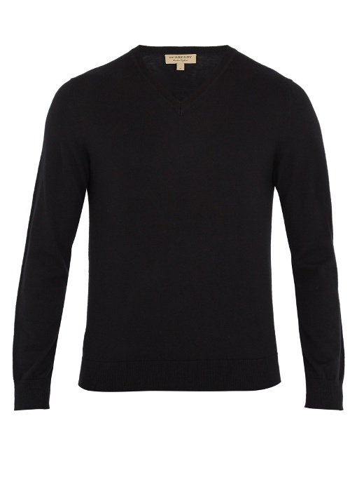 Burberry Randolf V-neck Sweater - 100% Exclusive In Black