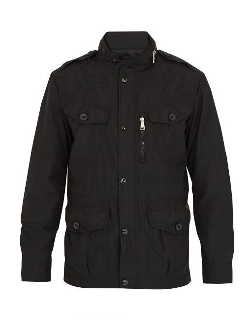 Polo Ralph Lauren Funnel-neck Shell Jacket In Black