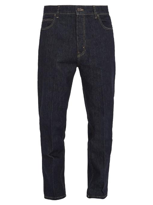 Stella Mccartney Carrot-fit Cropped Jeans In Colour: Dark Indigo-blue