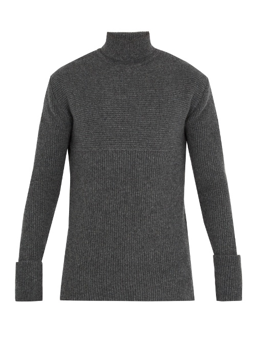 Wooyoungmi Roll-neck Wool-blend Sweater In Grey