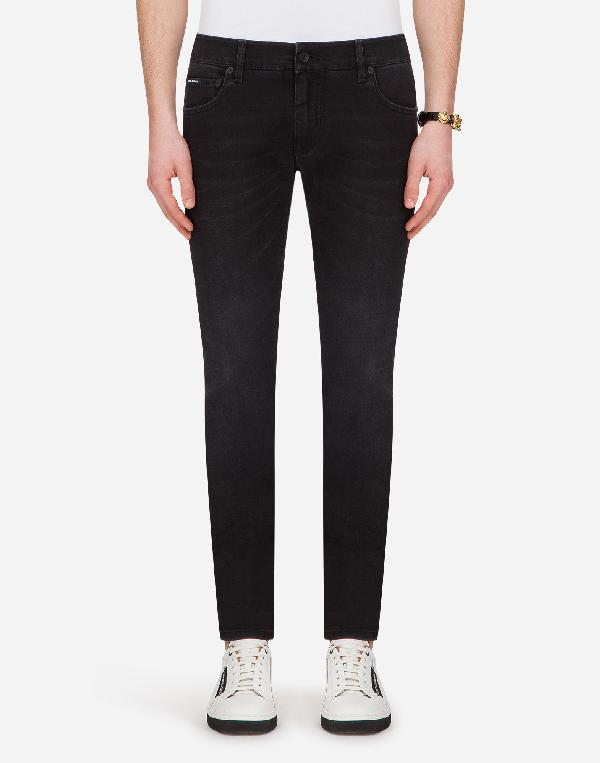 Dolce & Gabbana Slim-leg Stretch-cotton Chino Trousers In Blue