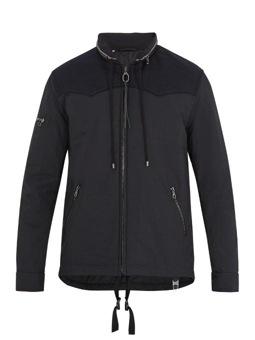 Lanvin Contrast-yoke Cotton-blend Jacket In Navy Multi