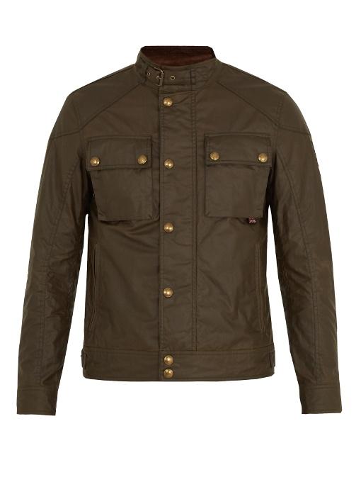 Belstaff Racemaster Waxed-cotton Jacket In Green