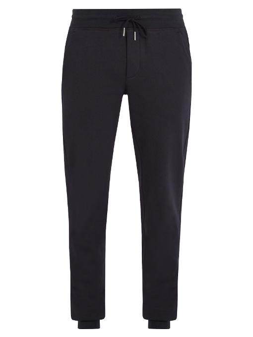 Moncler Slim-Leg Cotton Track Pants In 773 Navy