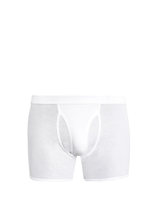 The White Briefs Wil Cotton-jersey Boxer Trunks In White