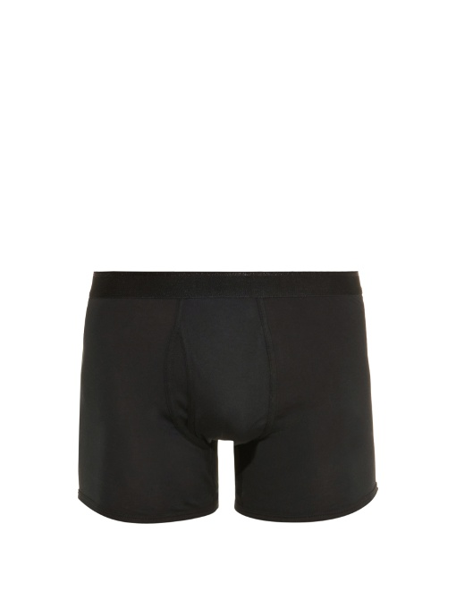 The White Briefs Wil Cotton-jersey Boxer Trunks In Black