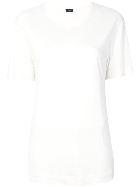 Joseph Crew Neck T-shirt - Neutrals In Nude & Neutrals