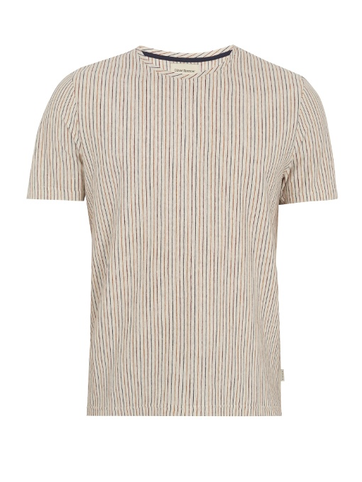 Oliver Spencer Conduit Striped Cotton-jersey T-shirt In Multi