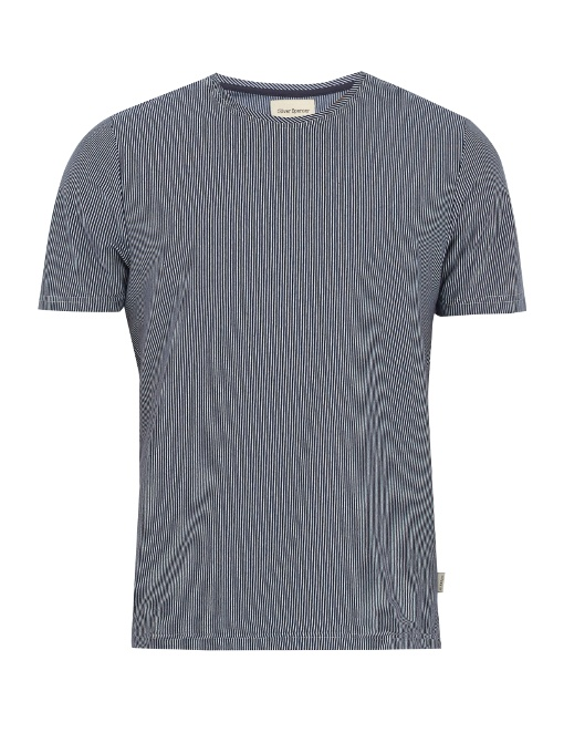 Oliver Spencer Conduit Striped Cotton-jersey T-shirt In Blue Multi
