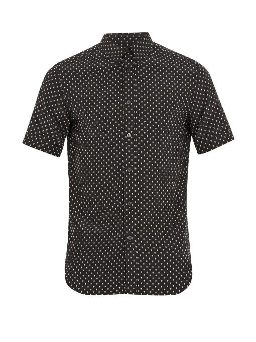 Alexander Mcqueen Skull-print Silk Shirt In Black Multi