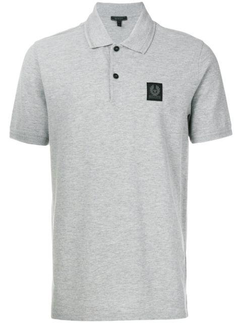 Belstaff Stannett Cotton-piquÉ Polo Shirt In Grey