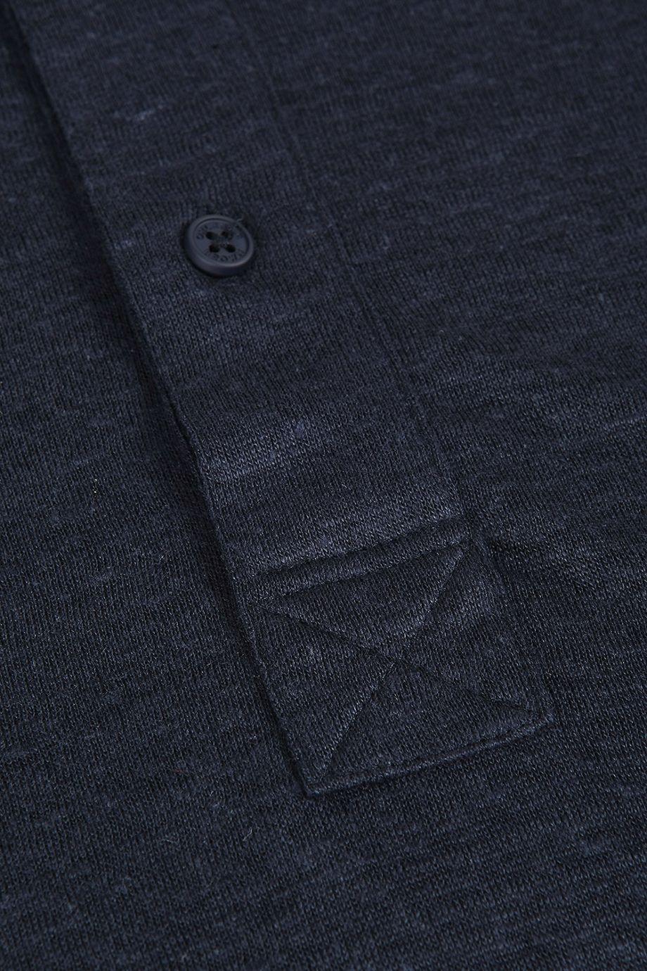 Orlebar Brown Sebastian Linen Polo Shirt In Navy