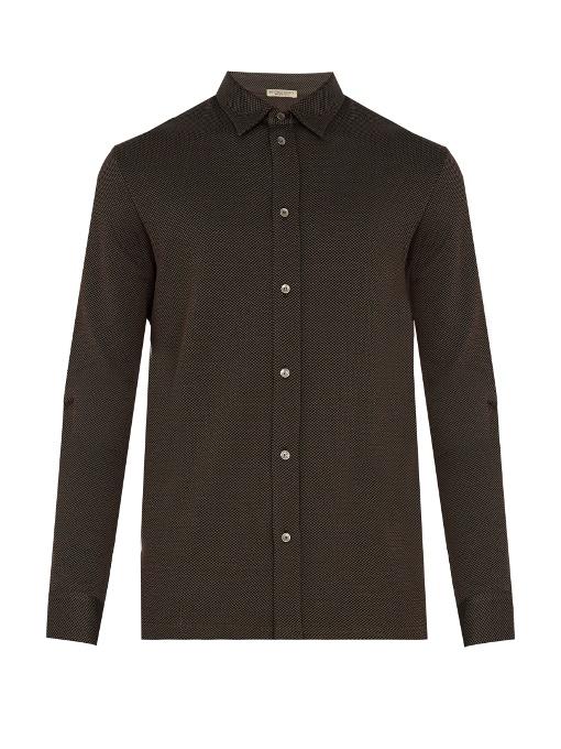 Bottega Veneta Single-cuff Checked Cotton Shirt In Black Multi