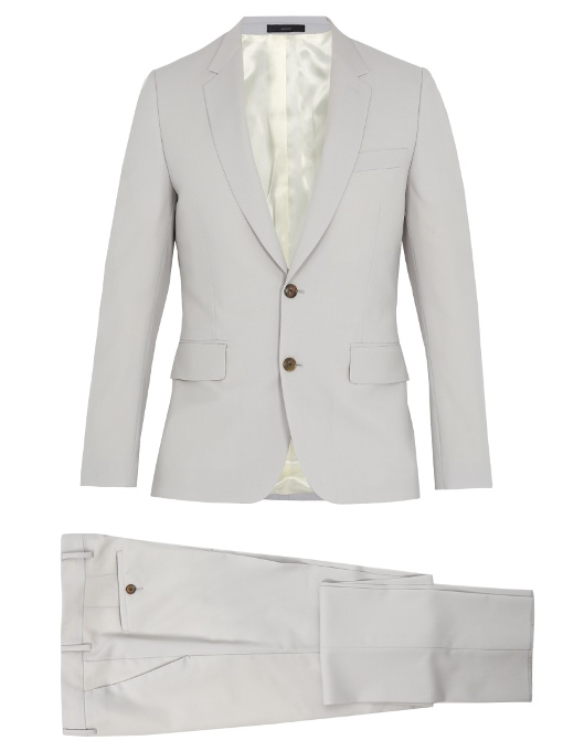 Paul Smith Soho-fit Wool-blend Suit In Colour: Cloud-grey