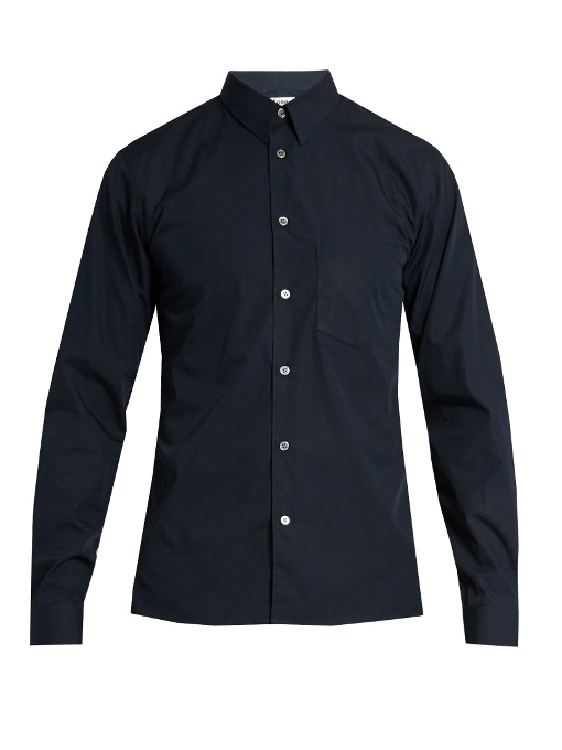 Acne Studios York Cotton Shirt In Navy