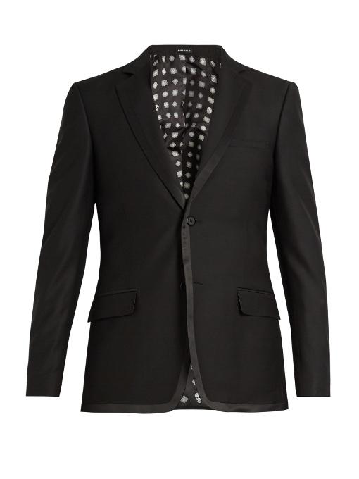 Alexander Mcqueen Single-breasted Wool-blend Blazer In Black