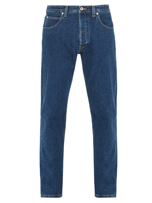 Loewe Cotton-denim Jeans In Colour: Indigo-blue