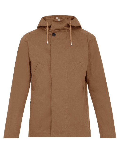 A.p.c. Cliff Cotton-blend Parka In Tan