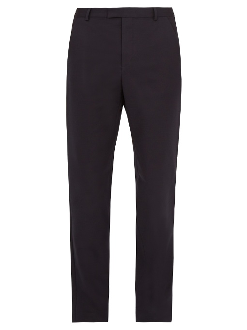 A.p.c. Basile Stretch-cotton Chino Trousers In Navy