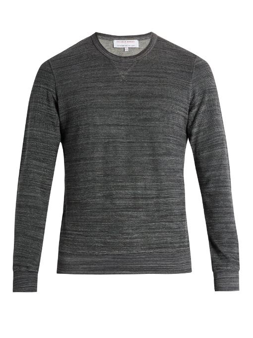 Orlebar Brown Pierce Terry-towelling Cotton Sweatshirt In Grey