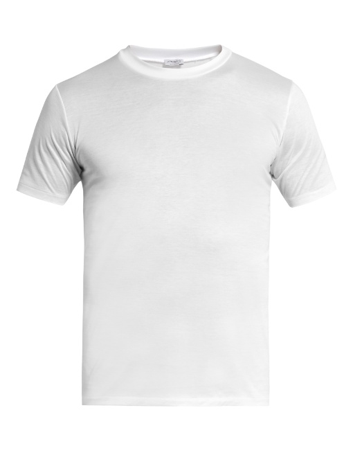 Zimmerli Royal Classic Crew-neck Cotton T-shirt In White