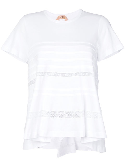 N°21 Lace Panel T-shirt