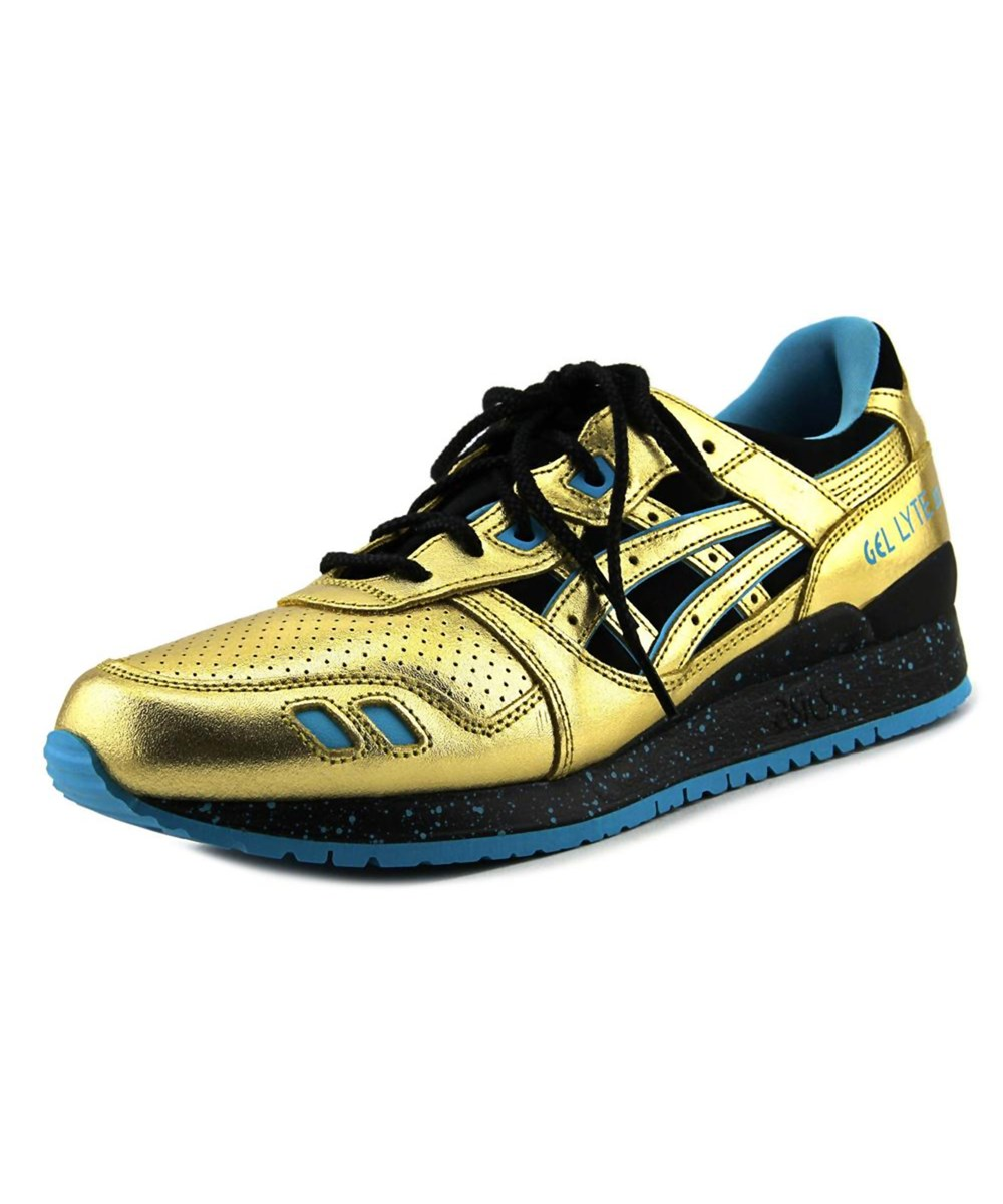 Asics Gel-lyte Iii   Round Toe Leather  Running Shoe In Gold