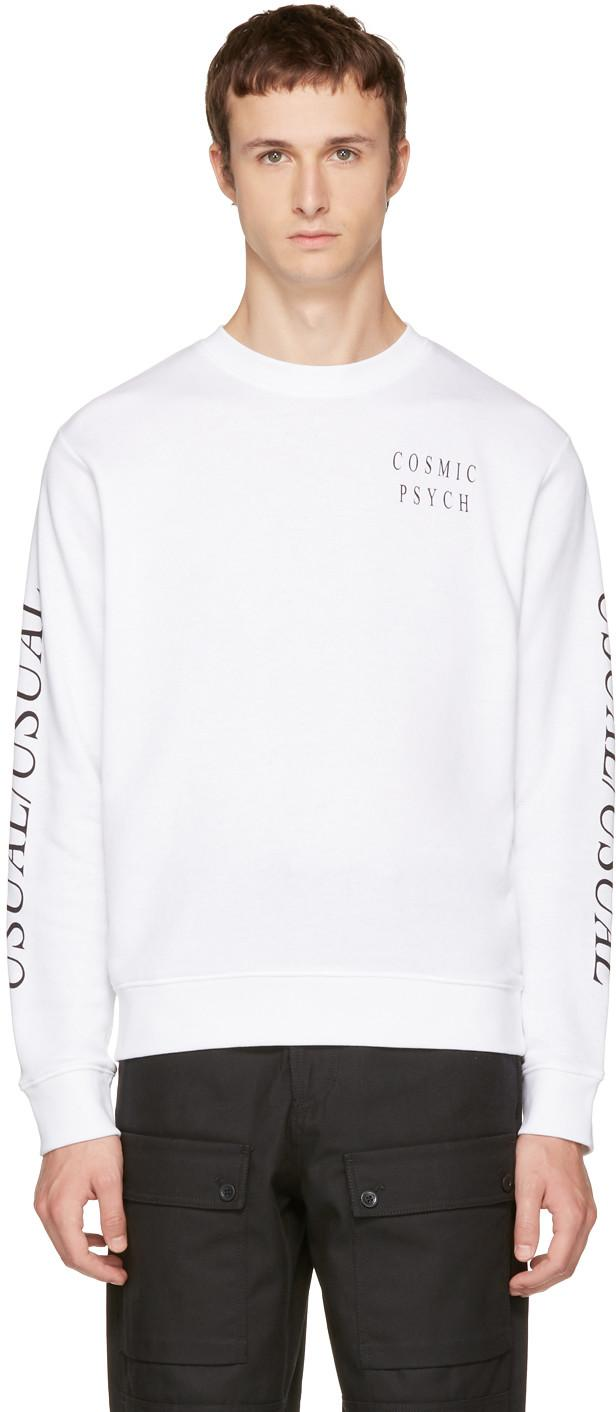 Mcq By Alexander Mcqueen White 'usual/usual' Sweatshirt