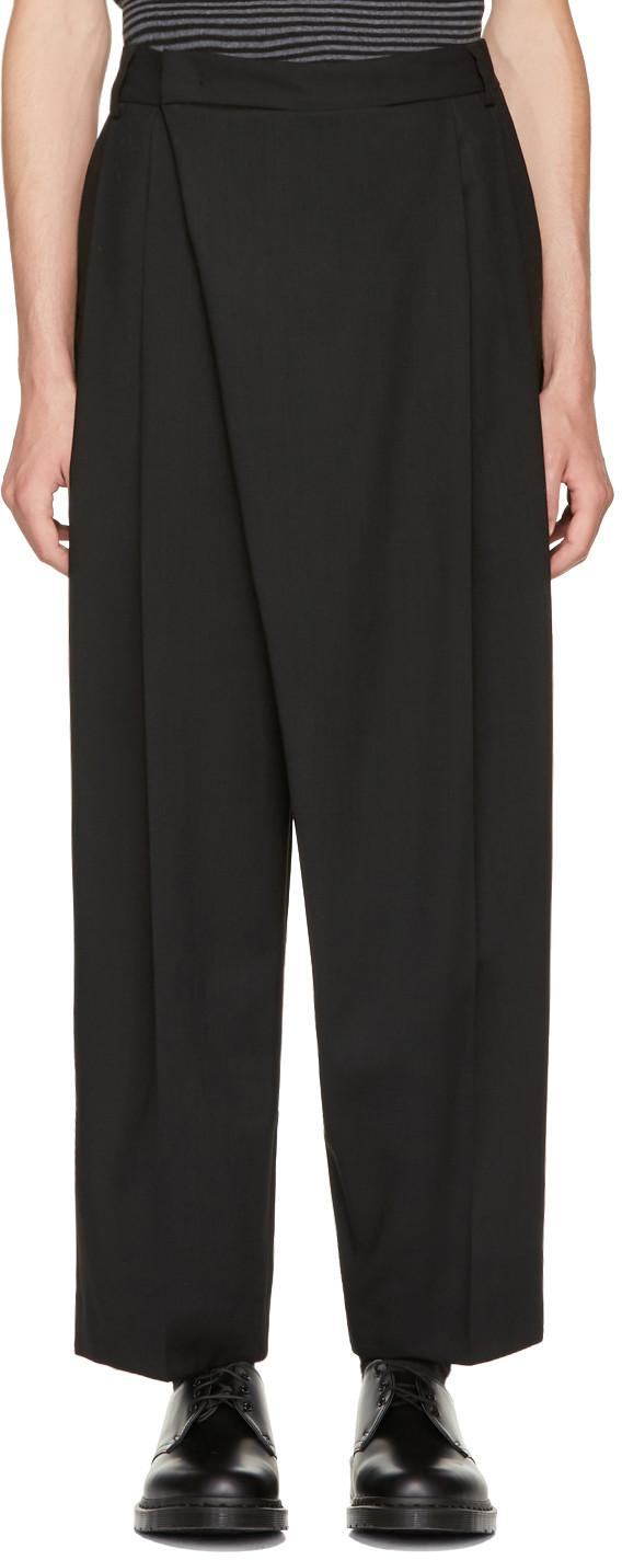 Mcq By Alexander Mcqueen Black Crossover Trousers