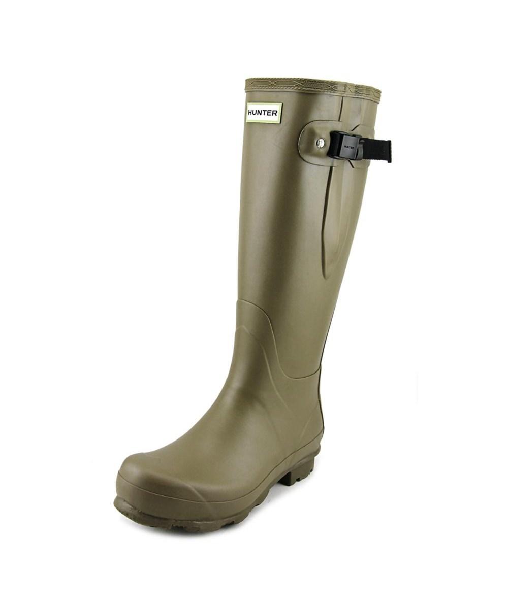 Hunter Norris Field Adjustable Men  Round Toe Synthetic  Rain Boot In Khaki