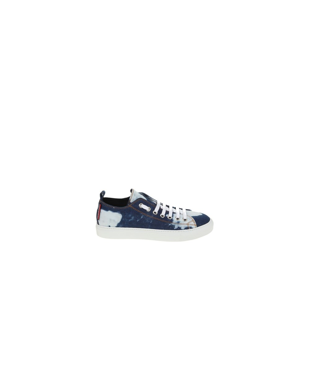 Dsquared2 Men's  White/blue Fabric Sneakers