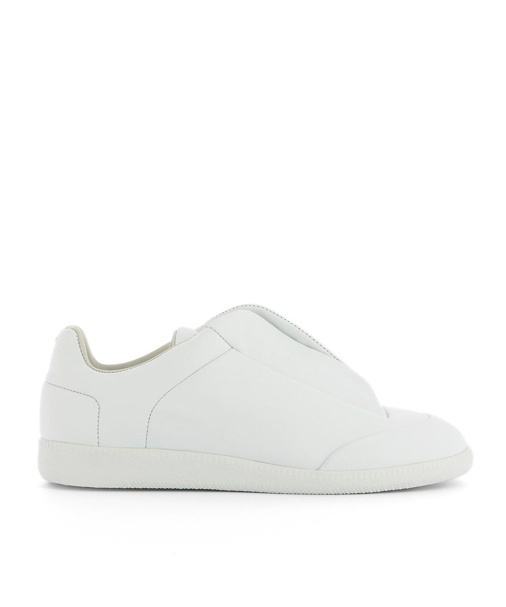 Maison Margiela Men's  White Leather Slip On Sneakers