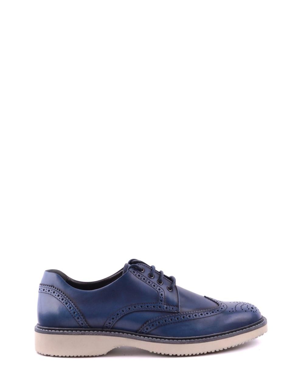 Hogan Men's  Blue Leather Lace-up Shoes
